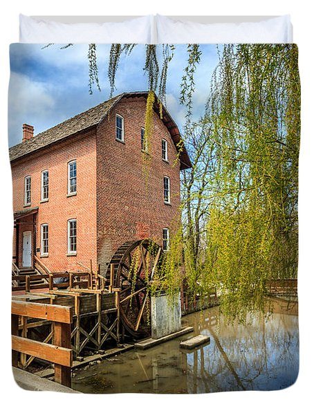 Deep River County Park Grist Mill Duvet Cover by Paul Velgos