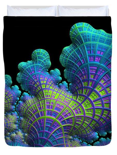 Deep Sea Coral Duvet Cover