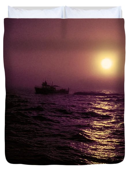 Deep Sea Fishing Off West Port Wa II Duvet Cover