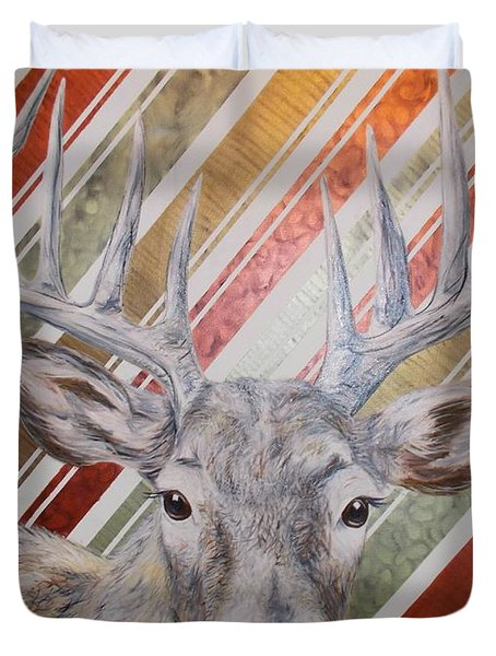 Deer Deco Duvet Cover by PainterArtist FINs husband