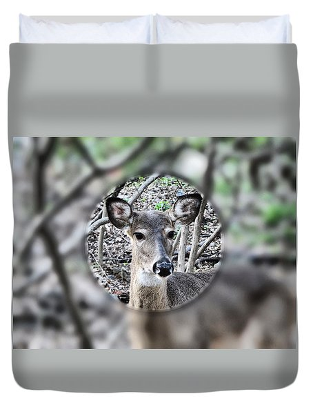 Deer Hunter's View Duvet Cover