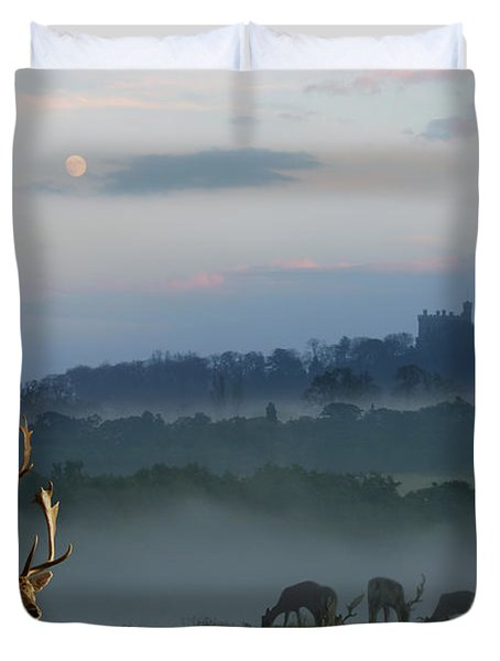 Deer In The Mist Duvet Cover