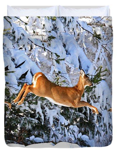Deer Jump Duvet Cover