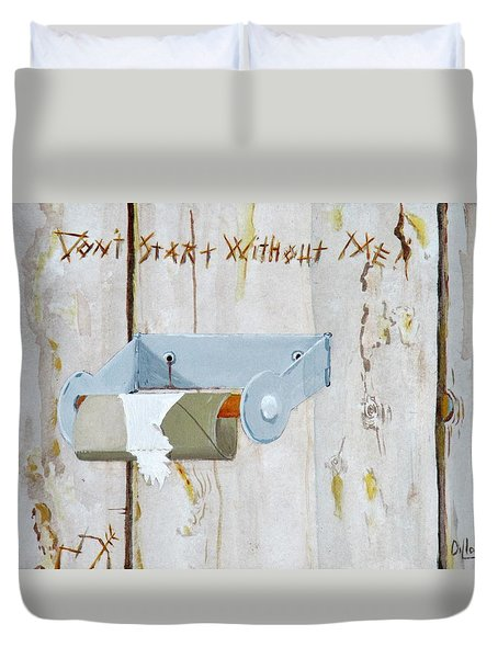 Deer Lease Dilemma Duvet Cover