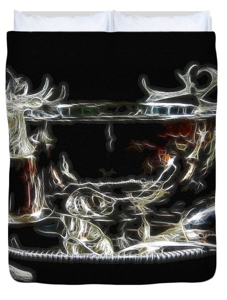 Deer Punch Bowl Set Duvet Cover by EricaMaxine  Price