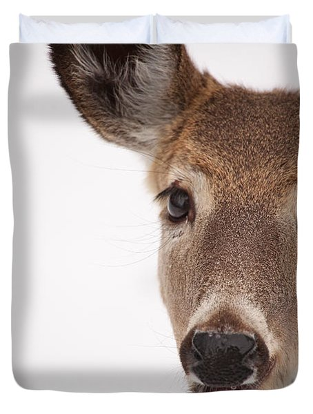 Deer Talk Duvet Cover by Karol Livote