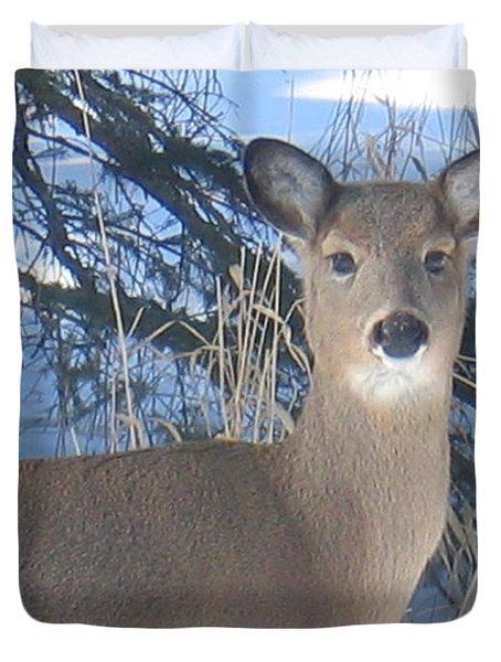 Deer Thinker Duvet Cover