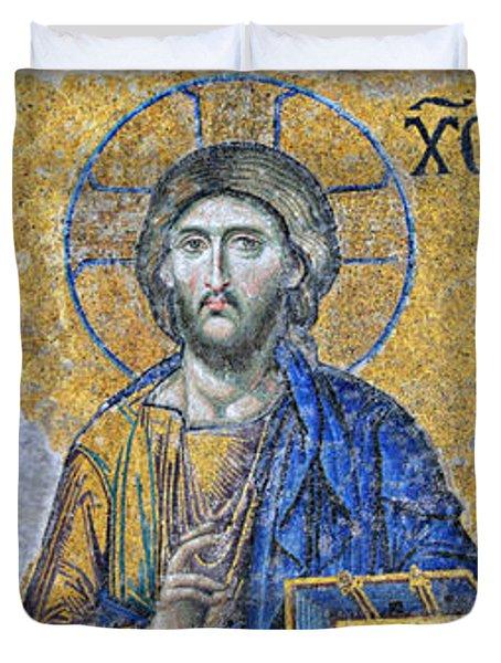 Deesis Mosaic -- Hagia Sophia Duvet Cover