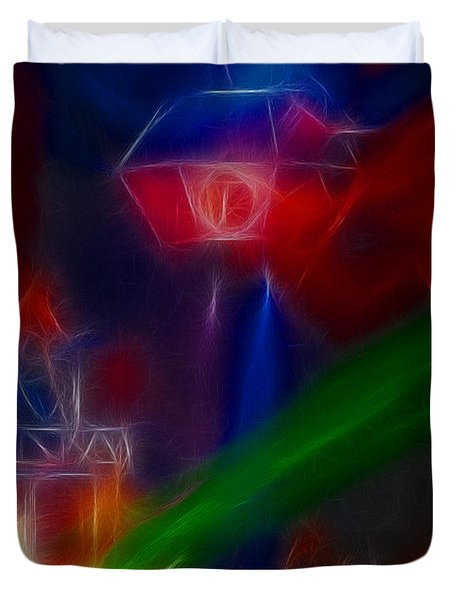 Def Leppard-adrenalize-gf12-fractal Duvet Cover by Gary Gingrich Galleries