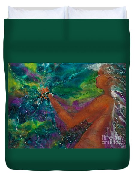 Defining Her Essence Duvet Cover by Ilisa Millermoon