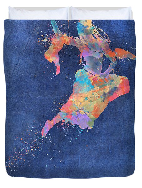 Defy Gravity Dancers Leap Duvet Cover