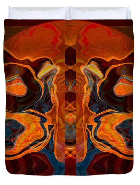 Deities Abstract Digital Artwork Duvet Cover