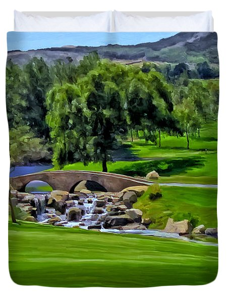 Del Mar Country Club Duvet Cover by Michael Pickett