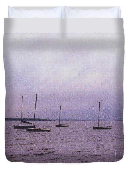 Duvet Cover featuring the photograph Delaware Harbor by David Jackson