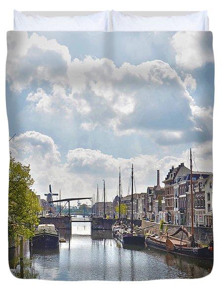 Delfshaven Rotterdam Duvet Cover