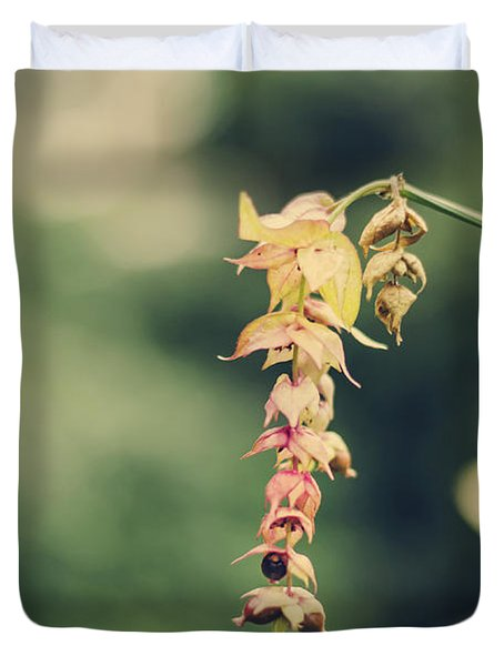 Delicate Duvet Cover by Heather Applegate