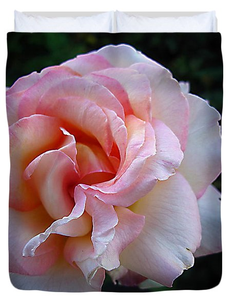 Duvet Cover featuring the photograph Delicate Pink by Joyce Dickens