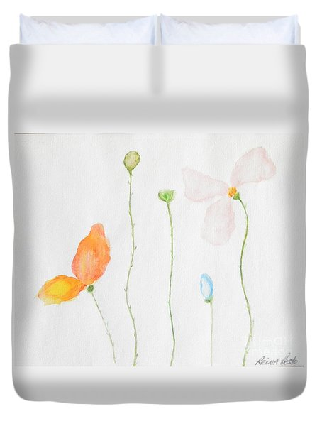 Delicate  Duvet Cover by Reina Resto