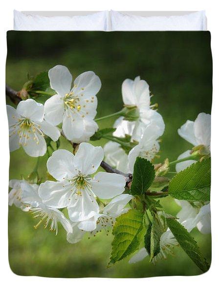 Delicate Springtime Duvet Cover by Ari Salmela