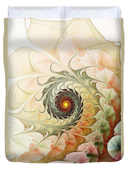 Delicate Wave Duvet Cover by Anastasiya Malakhova
