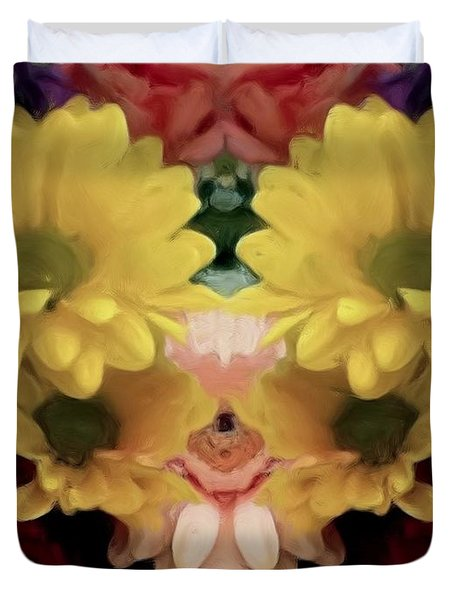 Duvet Cover featuring the photograph Delightful Bouquet by Luther Fine Art