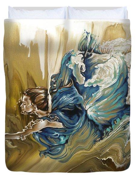 Deliver Duvet Cover by Karina Llergo