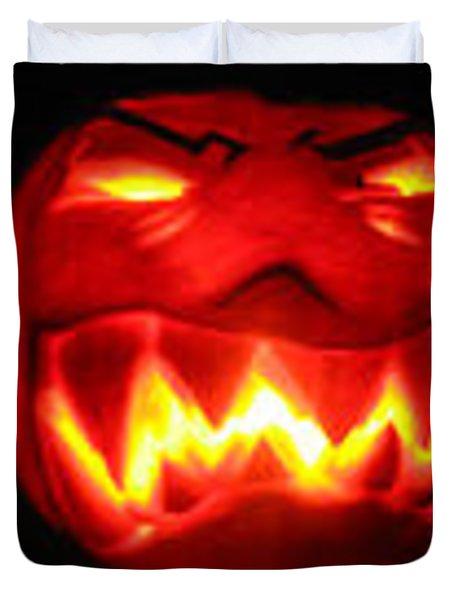Demented Mister Ullman Pumpkin Duvet Cover