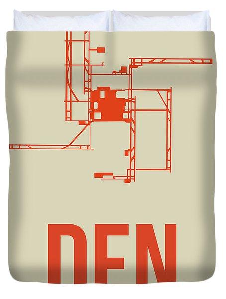 Den Denver Airport Poster 2 Duvet Cover