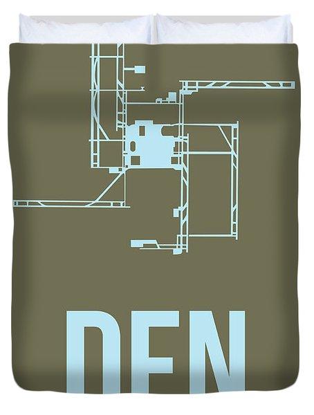 Den Denver Airport Poster 3 Duvet Cover
