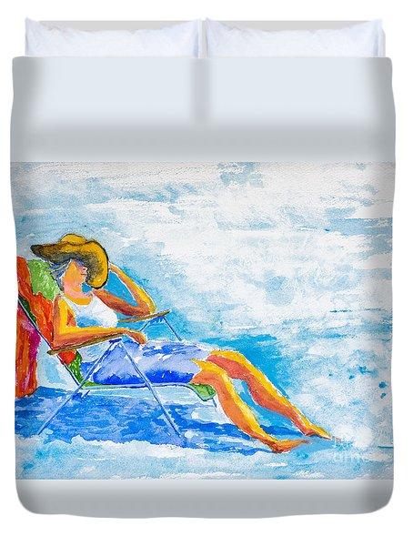 Dena At The Beach Duvet Cover