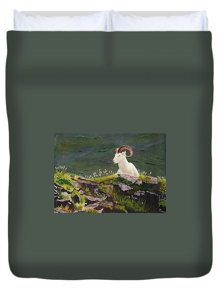 Denali Dall Sheep Duvet Cover