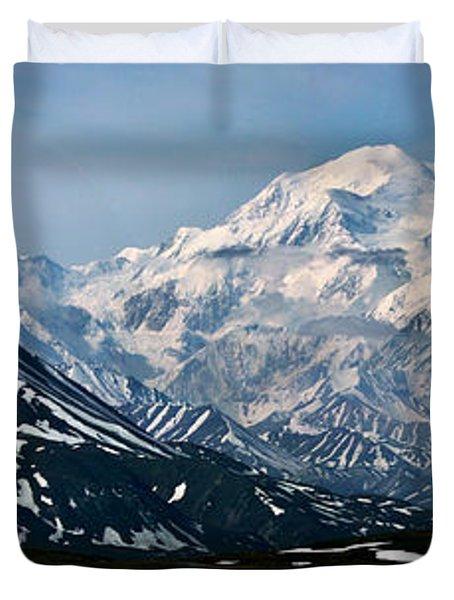 Duvet Cover featuring the photograph Denali National Park Panorama by John Haldane