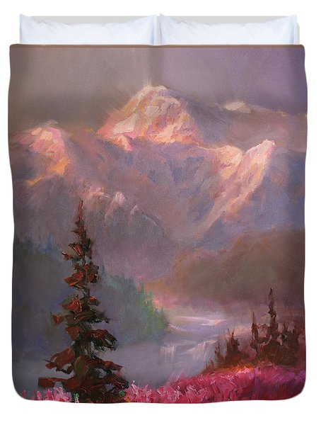 Denali Summer - Alaskan Mountains In Summer Duvet Cover