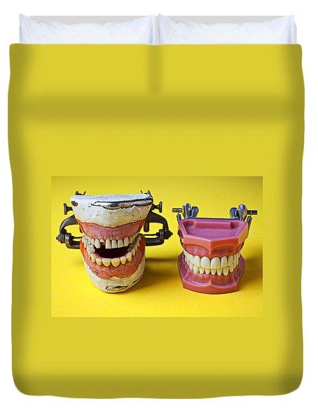 Dental Models Duvet Cover by Garry Gay