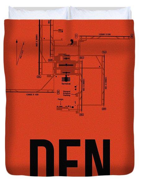 Denver Airport Poster 2 Duvet Cover