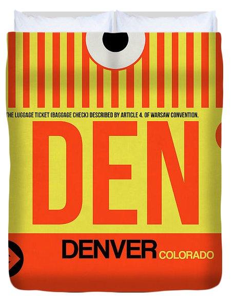 Denver Airport Poster 3 Duvet Cover