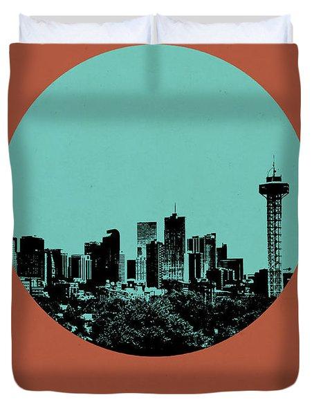 Denver Circle Poster 1 Duvet Cover