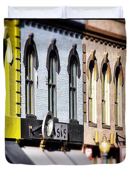 Denver Market Street Tilt Shift Duvet Cover by For Ninety One Days