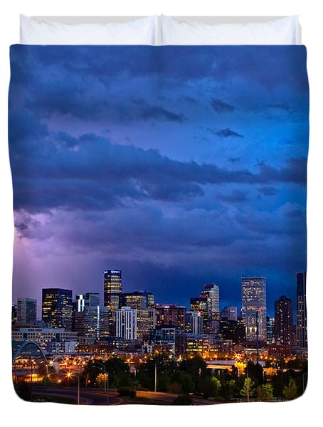 Denver Skyline Duvet Cover by John K Sampson
