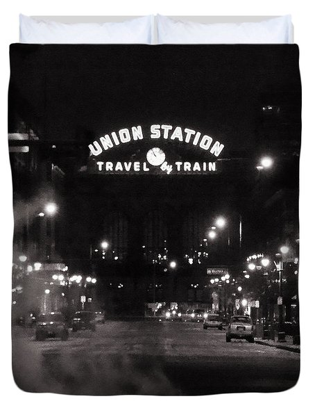 Denver Union Station Square Image Duvet Cover by Ken Smith