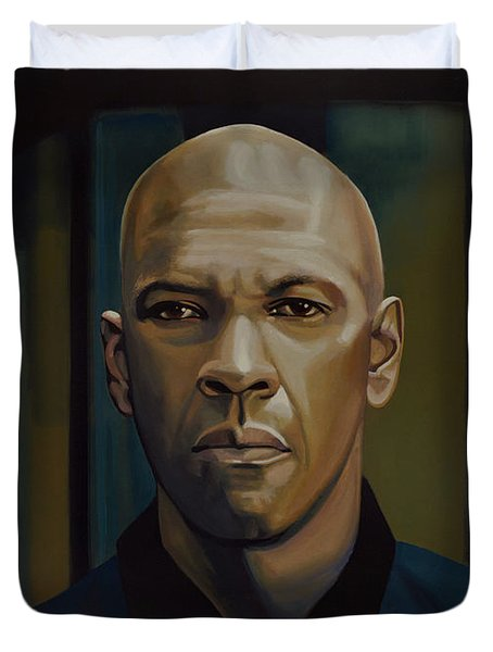 Denzel Washington In The Equalizer Painting Duvet Cover