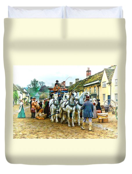 Departing Cranford Duvet Cover