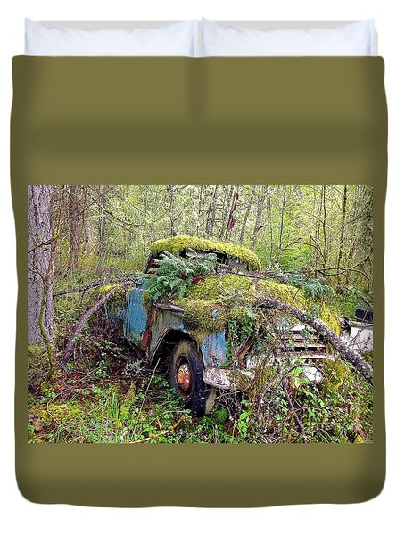 Duvet Cover featuring the photograph Derelict by Sean Griffin