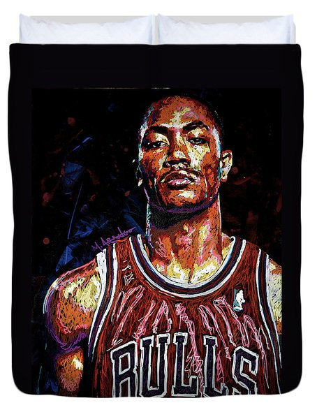Derrick Rose-2 Duvet Cover