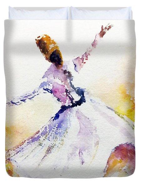 Whirling Sufi Dervish Duvet Cover