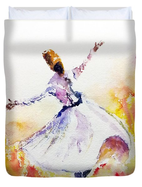 Sufi  Or Dervish Dancer Duvet Cover