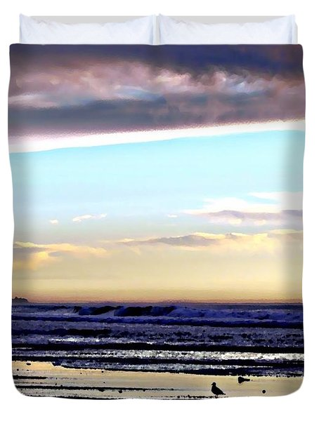 Descendants As Many As The Sand On The Shore Of The Sea Duvet Cover by Sharon Soberon