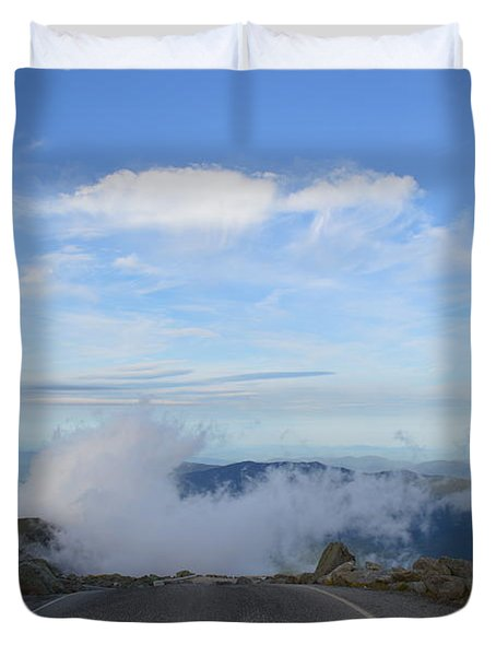 Descending Into The Clouds Duvet Cover