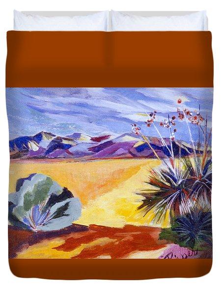 Desert And Mountains Duvet Cover