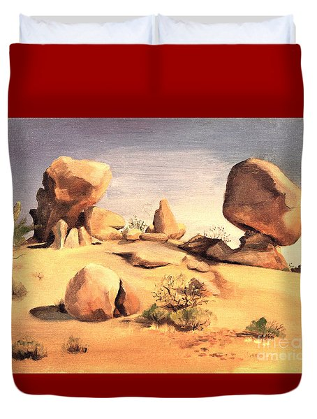 Desert Balanced Rock Duvet Cover
